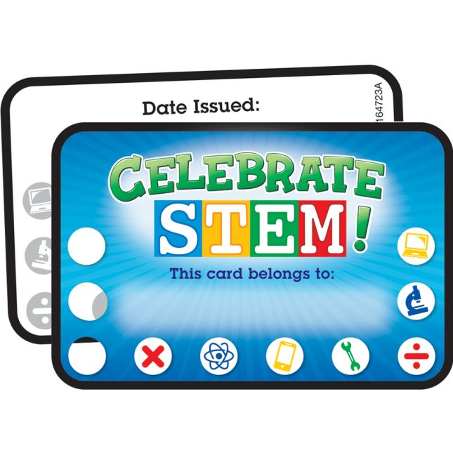 Celebrate STEM! Earn-And-Return Cards