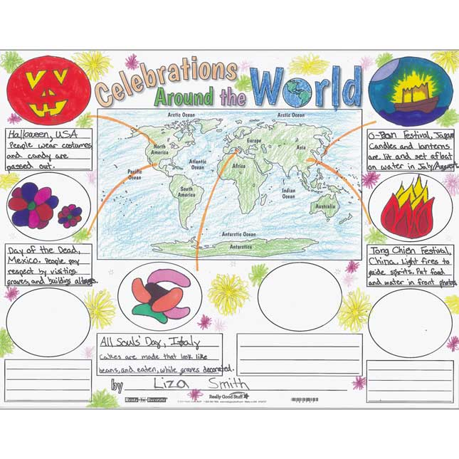Ready-To-Decorate® Celebrations Around The World Posters - 24 posters