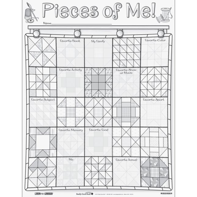 Ready-To-Decorate® Pieces Of Me! Posters