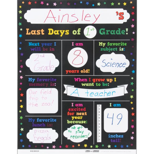 Ready-To-Decorate® First And Last Days Of School Poster Set
