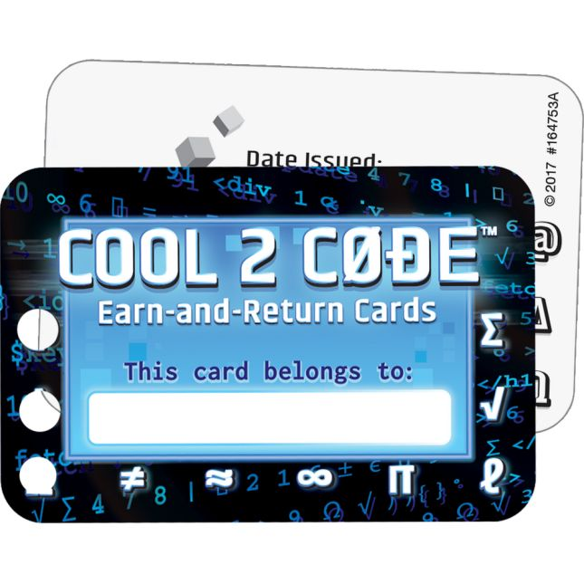 Cool 2 Code™ Earn-And-Return Cards