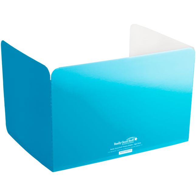 Really Good Stuff® Turquoise Privacy Shields  - High Gloss - Set Of 12