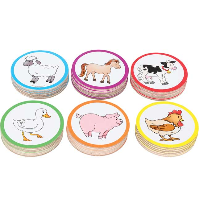 Teacher And Student Manipulatives Kit - Farm Animal Counters