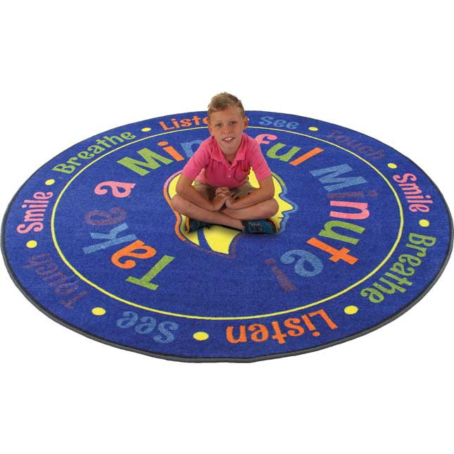 Take A Mindful Minute Rug - Round