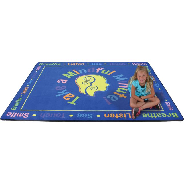 Take A Mindful Minute Rug - Rectangular