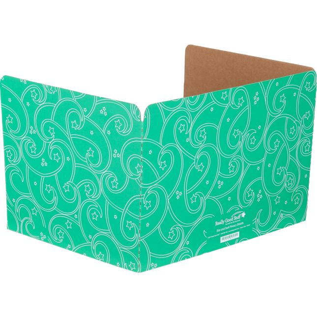 Standard Privacy Shields - Set of 12 - Star & Swirl - Green - Matte