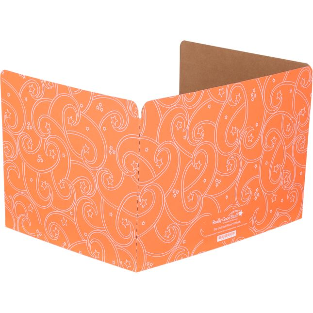 Standard Privacy Shields - Set of 12 - Star & Swirl - Orange - Matte