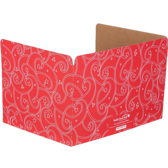Standard Privacy Shields - Set of 12 - Star and Swirl - Red - Matte