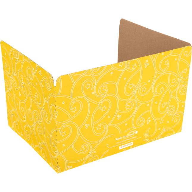 Standard Privacy Shields - Set of 12 - Star & Swirl - Yellow - Matte