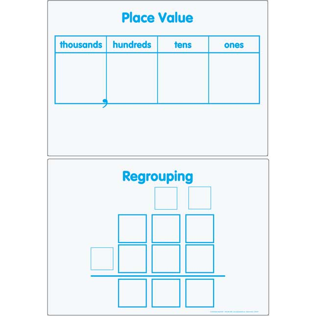 Place Value And Regrouping Magnetic Dry Erase Mats™