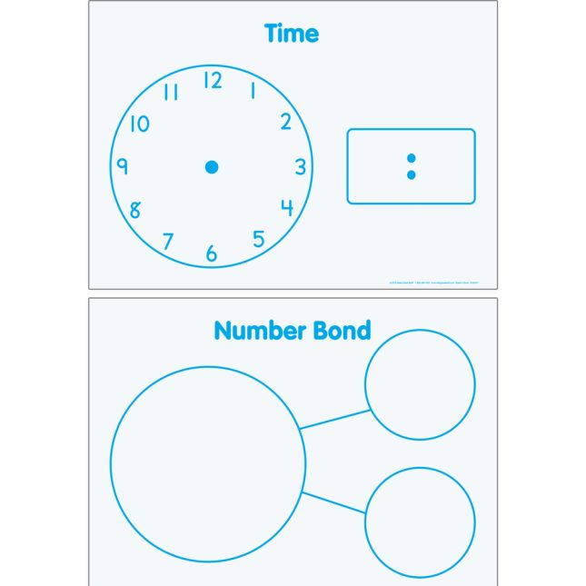 Time And Number Bonds Magnetic Dry Erase Mats™
