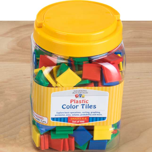 Teacher And Student Manipulatives Kit - Square Color Tiles