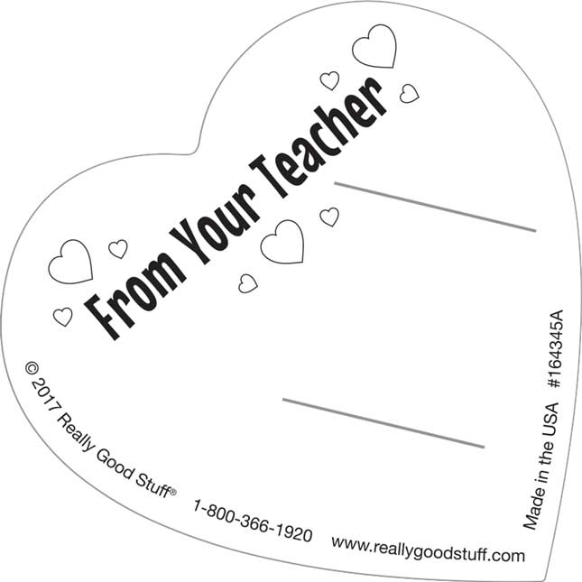 Valentine's Day Gifts From Your Teacher Kit