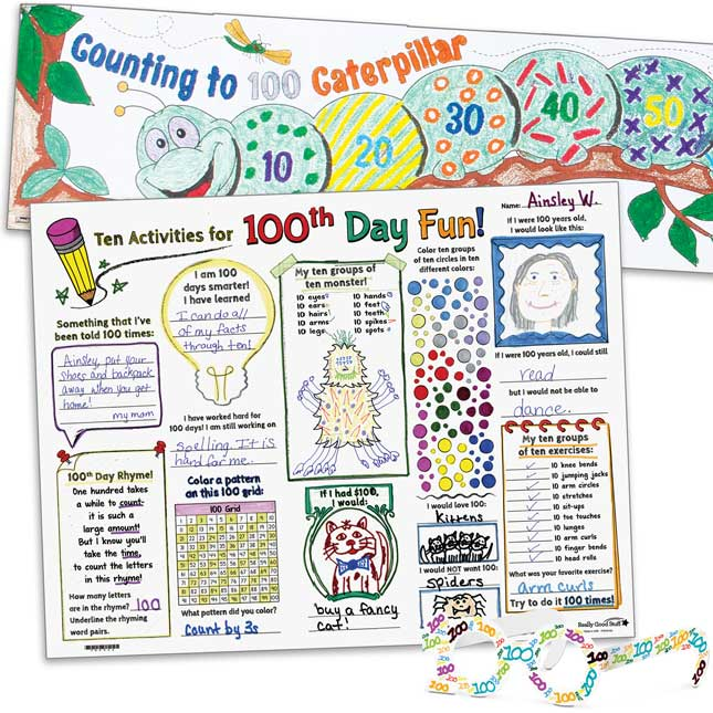 100th Day Classroom Kit - 1 multi-item kit