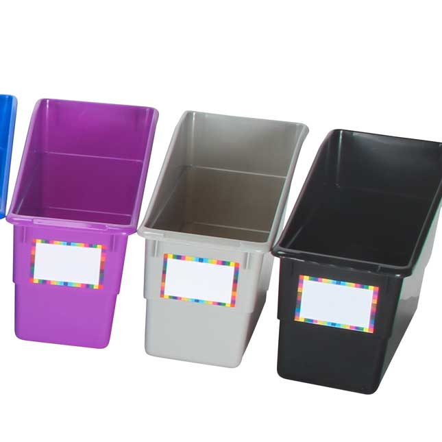 Durable Book And Binder Holders - 12-Pack Rainbow