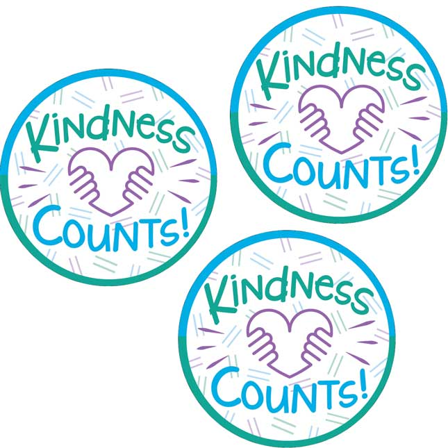Kindness Counts Stickers - 36 stickers
