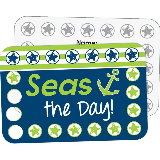 Nautical Earn-And-Return Cards - 70 cards