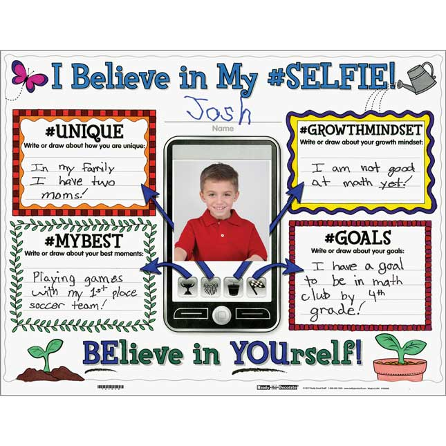 Ready-To-Decorate® Growth Mindset Proud Of My #SELFIE Posters