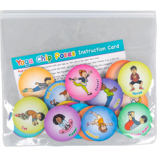 Yoga Chips for Kids - Set of 24