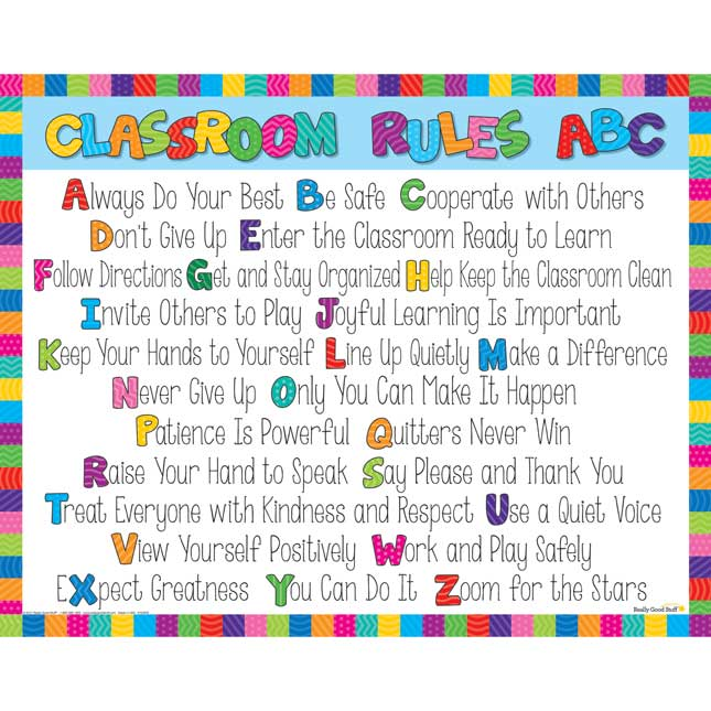 Classroom Rules Poster - 1 double-sided poster