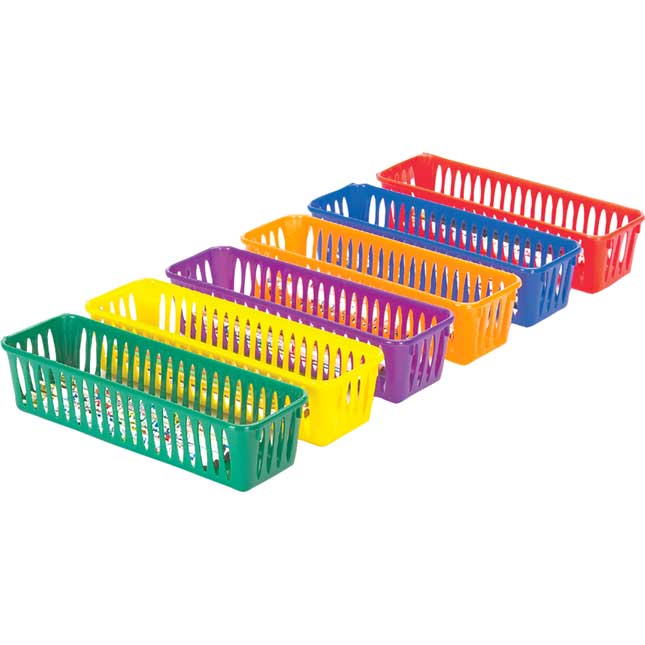 Teacher Materials Organizer With Baskets