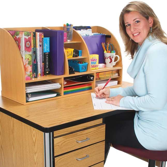 Desk Organizer With Dry Erase Board - 1 organizer