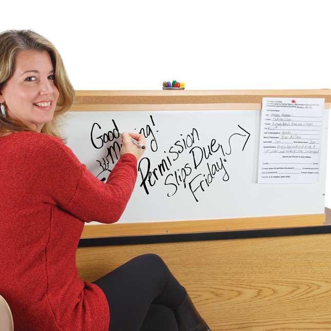 Desk Organizer With Dry Erase Board