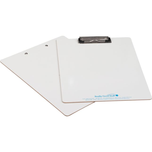Double-Sided Dry Erase Clipboard - 6 clipboards