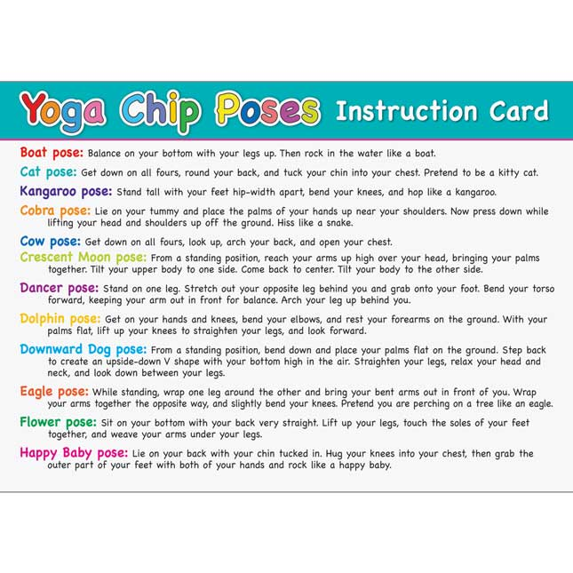 Yoga And Mindfulness Kit - 1 poster, 24 chips