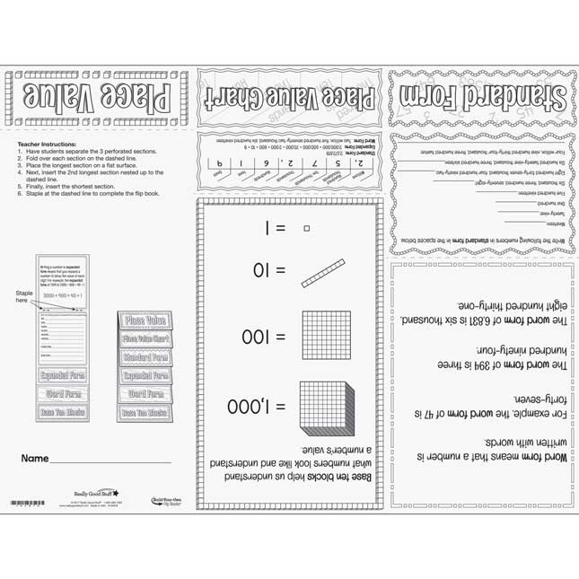Build-Your-Own Flip Books™ - Place Value - 24 flip books