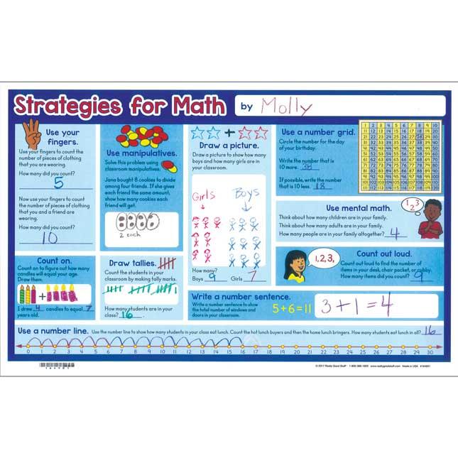 Math Strategies Activity Mats