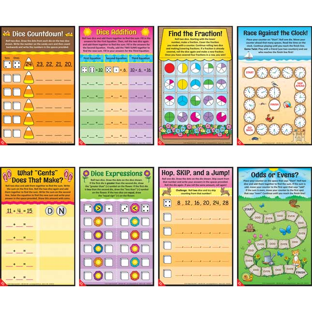 Seasonal Math Mats Dice Games