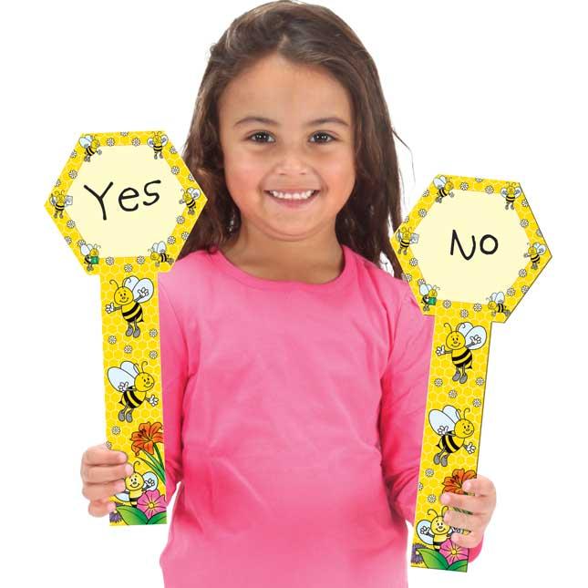 Dry Erase Paddles - Bees - 12 paddles