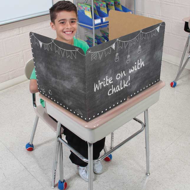 Chalkboard Desktop Helpers And Privacy Shields  Pack - Classroom