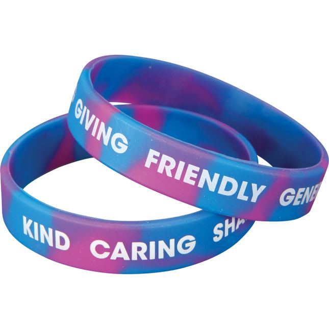 Positive Words Silicone Bracelets
