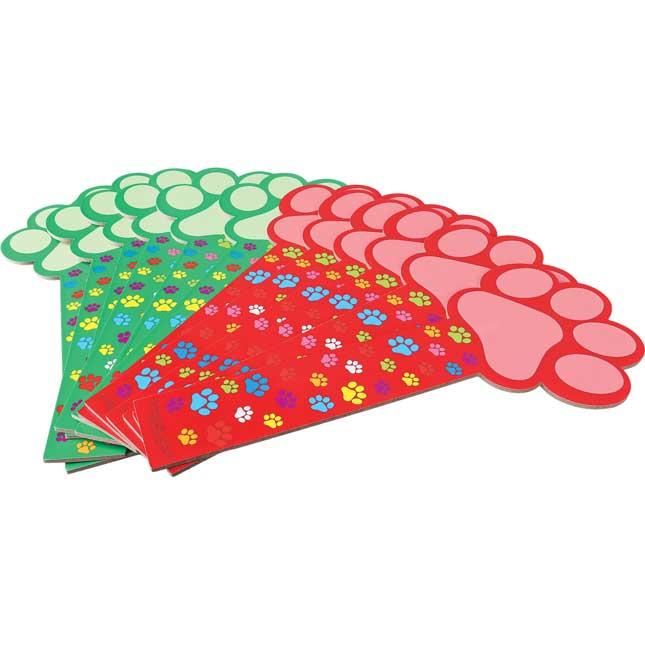 Dry Erase Paddles - Paw Prints