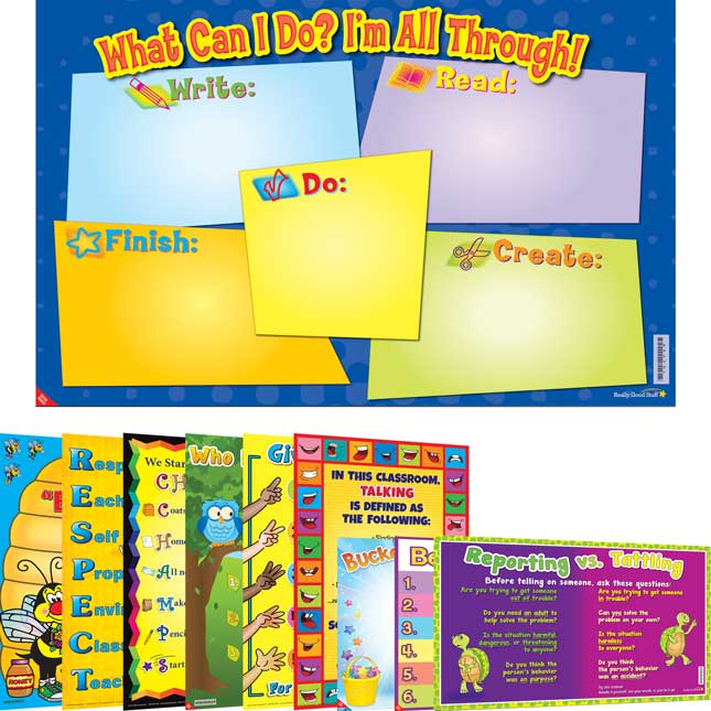 Space-Saver Primary Poster Pack - Classroom Management
