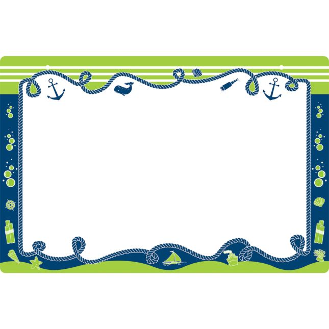 Nautical 2-Sided Dry Erase Board