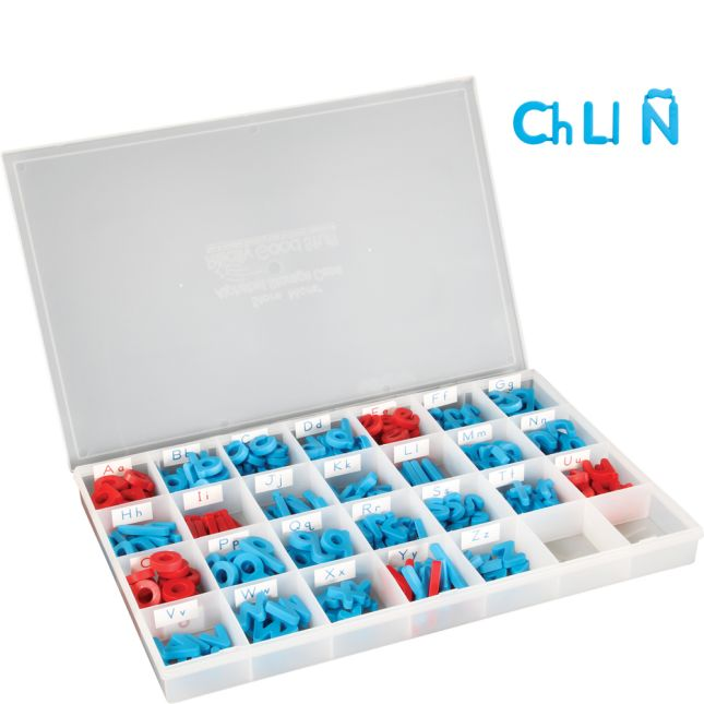 Spanish Plastic Magnetic Letters With Storage Case