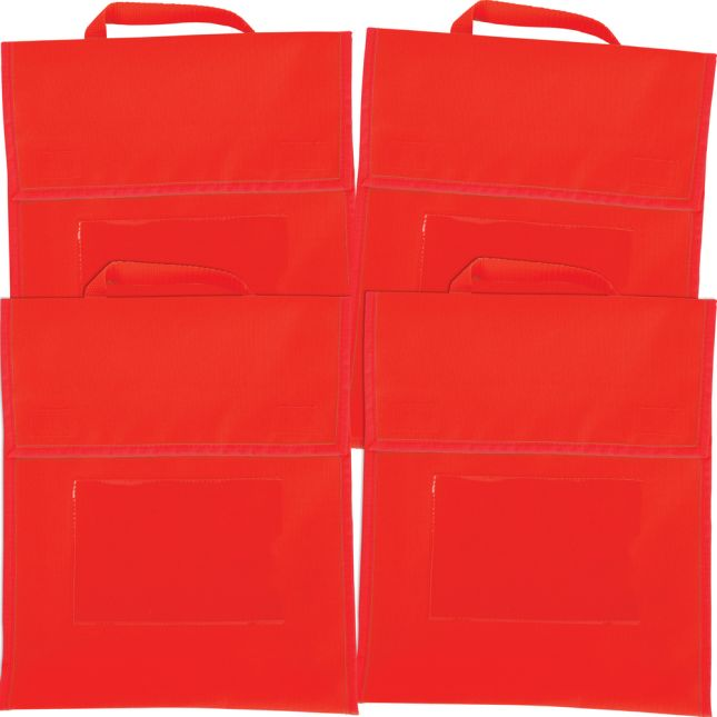 Solid Color Book Pouches - Set Of 4