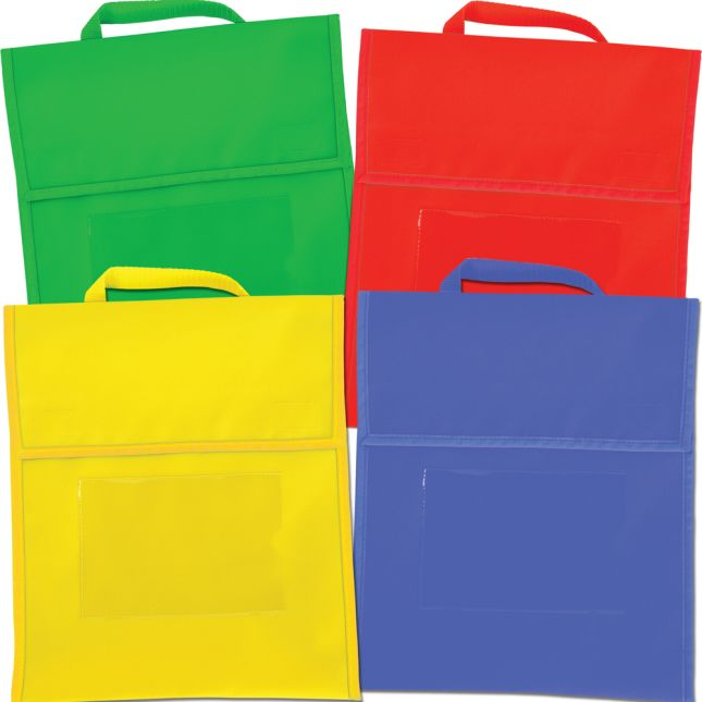 Group-Color Book Pouches - 4 Colors