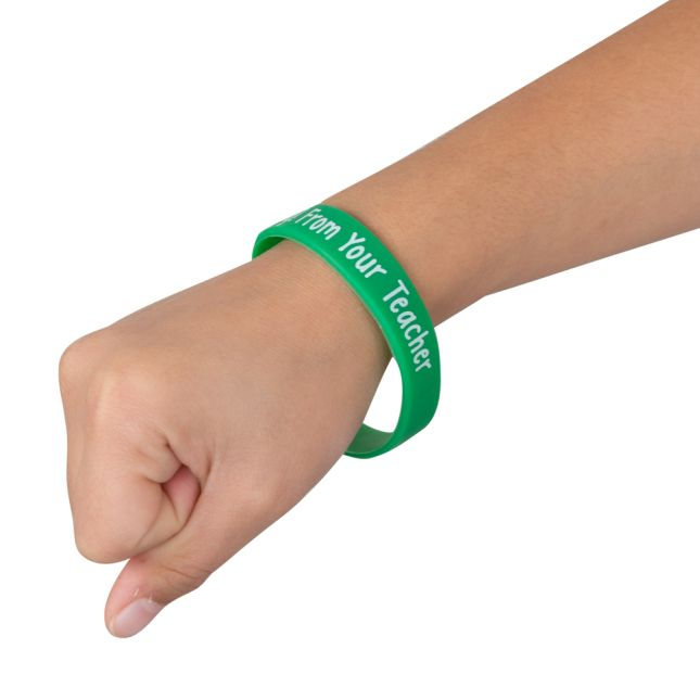 Happy Birthday From Your Teacher Silicone Bracelets