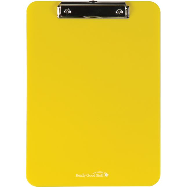 Group-Color Plastic Clipboards - Single Color - 6 clipboards