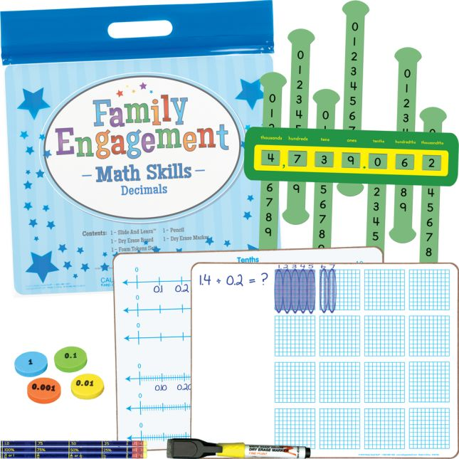 Family Engagement Math Skills - Decimals - 1 multi-item kit