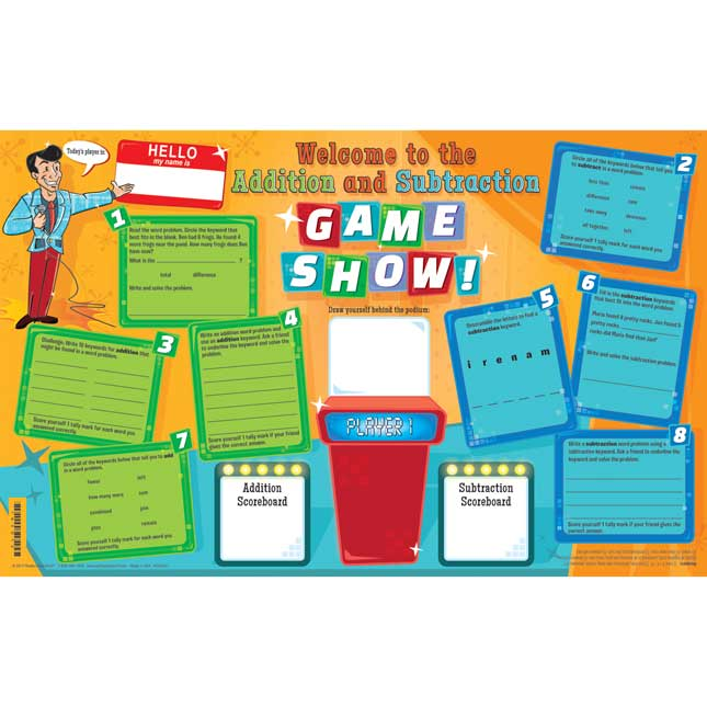 Addition-Subtraction Words Activity Mats