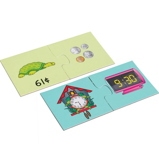 Find-A-Pair Puzzles™ - Time And Money Set