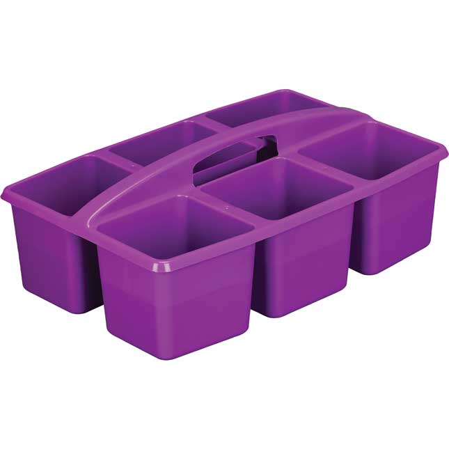 Six-Equal-Compartment Caddies - Set Of 6