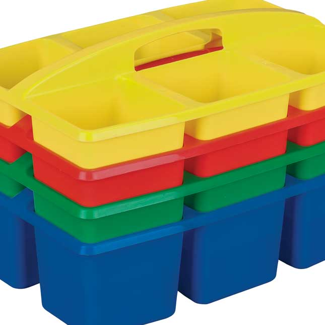 6 - Compartment Caddies - Primary -Set of 4