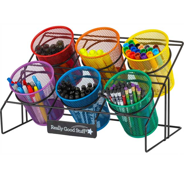 Easy Reach Supplies Holder With Cups