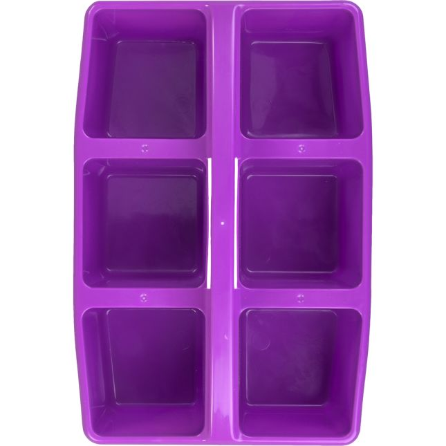 Six-Equal-Compartment Caddies - Single-Color Set Of 12